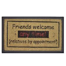 Friends Welcome Coir & Rubber Doormat