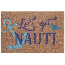 Embossed Anchor Coir Doormat