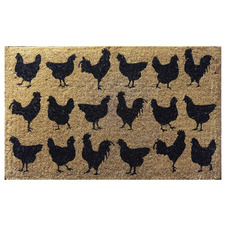 Lots Of Chooks Coir Doormat