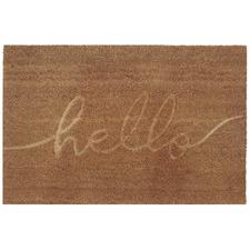 Natural Embossed Hello Coir Doormat