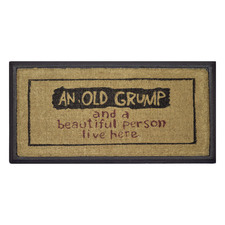 An Old Grump Coir & Rubber Doormat