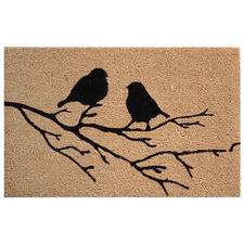 Lacy Birds On Branch Coir Doormat