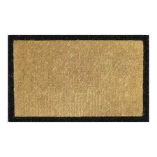 Black Bordered Premium Hand-Loomed Coir Outdoor Doormat