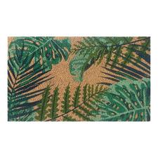 Green Leaves Outdoor Doormat
