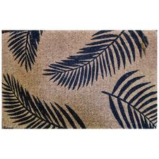 Black Fern Coconut Coir Doormat