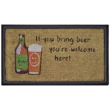 Bring Beer Welcome Here Rubber with Coir Doormat