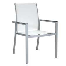 White Portsea Aluminium Outdoor Dining Chair