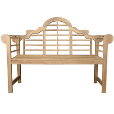 Natural Queens Acacia Wood Garden Bench