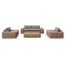 5 Seater Natural Yates PE Wicker Outdoor Sofa Set