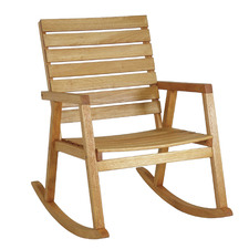Natural Texas Wooden Outdoor Rocking Chair