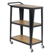 Lyon 3 Tier  Wood & Metal Outdoor Serving Trolley