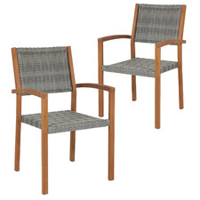 Paris Wicker Outdoor Dining Chairs (Set of 2)