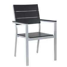 Black Hart Aluminium Outdoor Dining Chair