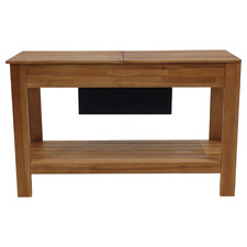 Malibu Wooden Outdoor Bar Table with Storage