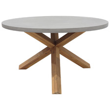 Boston Polystone Outdoor Dining Round Table
