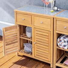 Heraclea Acacia Wood Outdoor Storage Cabinet