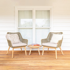 2 Seater Agrigentum Acacia Wood Outdoor Lounge Set