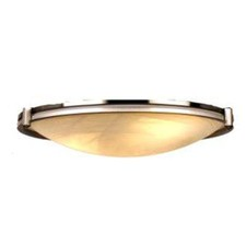 VM2500 2 Light Oyster Pendant in Satin Brass