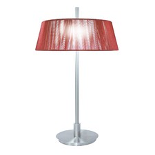 Paolo Two Light Table Lamp in Red