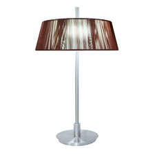 Paolo Two Light Table Lamp in Chocolate