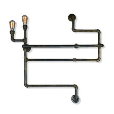 Pipe 2 Light Book Shelf Wall Light
