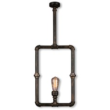 Pipe 1 Light Square Pendant