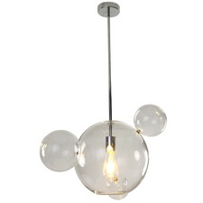 Clear Planet Glass Pendant Light
