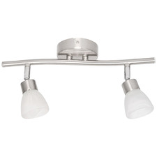White Alabaster 2 Light Halogen Track Light