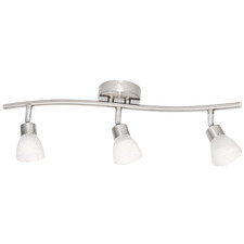White Alabaster 3 Light Halogen Track Light