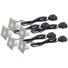 Square Blue LED Deck Lights (Set of 5)