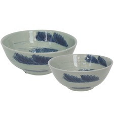 2 Piece Cloud Pattern Ceramic Bowl Set
