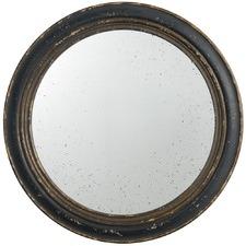 Round Black & Gold Mirror