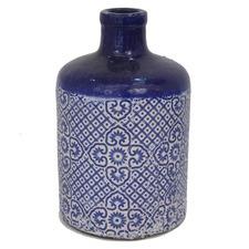 Mosaic Glazed Terracotta Vase