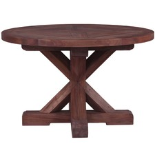 Round Trestle Mahogany Dining Table