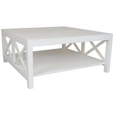 White Catalina Bayur Wood Coffee Table