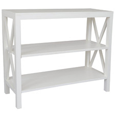 White Catalina Bayur Wood Console Table