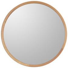 Rennie Round Oak Wood Mirror