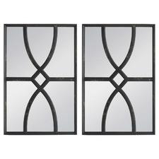 Danube Fir Wood Wall Mirrors (Set of 2)