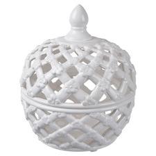 Elbe Ceramic Decorative Lidded Jar