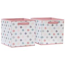 Phillipa Dots Storage Cubes (Set of 2)