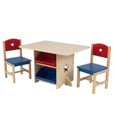 3 Piece Primary Star Table & Chair Set