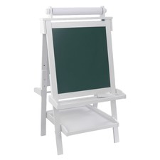 Deluxe Wooden Easel in White