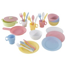 27 Piece Pastel Cookware Play Set