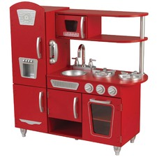 Vintage Play Kitchen in Red