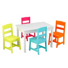 Highlighter Table and 4 Chair Set