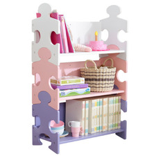 Kids' Pastel Puzzle 3 Tier Bookshelf