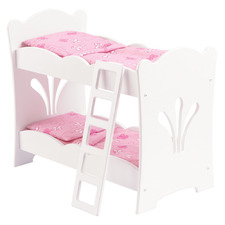 Kids' White Lil' Doll Bunk Bed