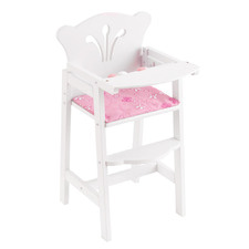 Kids' White Lil' Doll High Chair
