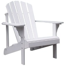 White Hardwood Adirondack Chair