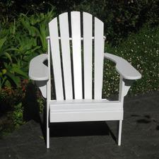 White Hardwood Adirondack Chair